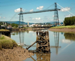 The Transporter Bridge in Newport, Gwent, South Wales.